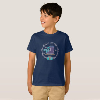 Merry Christmas Greeting Garland Boy's T-Shirt
