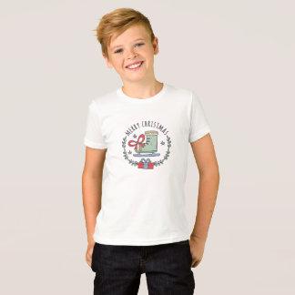 Merry Christmas Greeting Garland Boy's T-Shirt