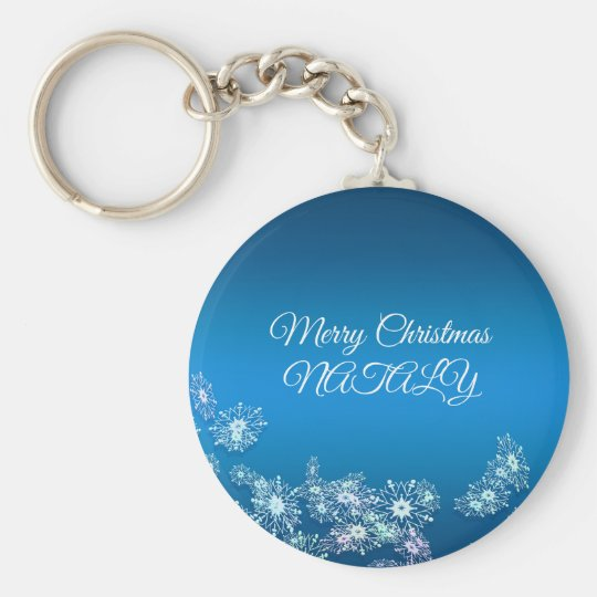 Merry Christmas. Greeting. Key Ring