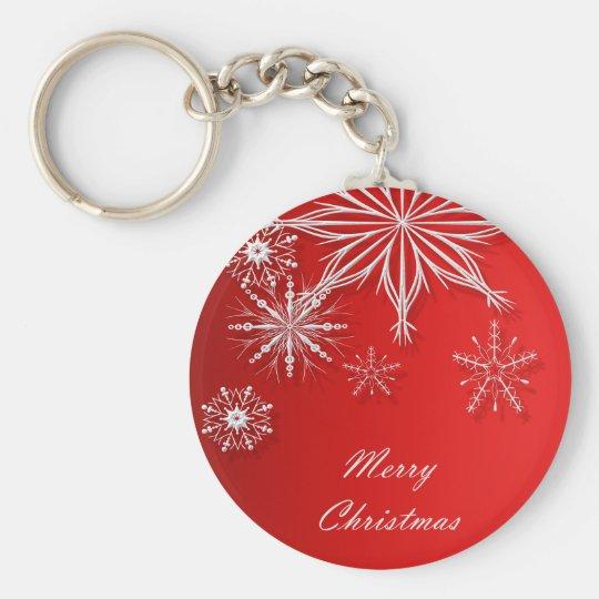 Merry Christmas. Greeting. Key Ring