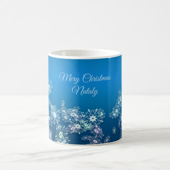 Merry Christmas. Greeting.Name. Coffee Mug