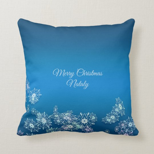 Merry Christmas. Greeting.Name. Cushion