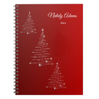 Merry Christmas. Greeting. Spiral Notebook