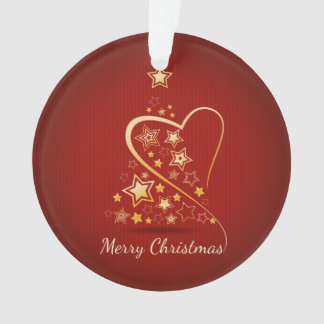 Merry Christmas greeting with golden ornaments