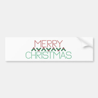 Merry Christmas Greetings Bumper Stickers
