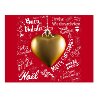 Merry Christmas greetings card from world
