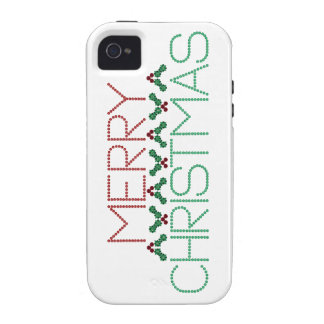 Merry Christmas Greetings iPhone 4/4S Cases