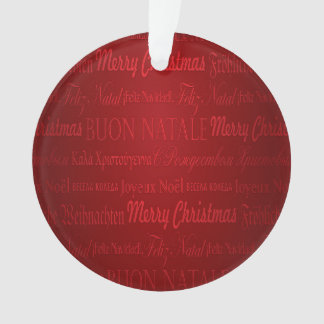 Merry Christmas Greetings Multi-Languages Red