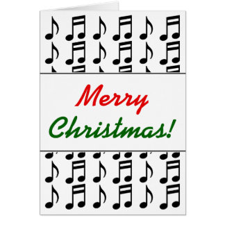 """""""Merry Christmas!"""" + Grid of Musical Notes"""