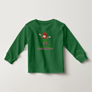 Merry Christmas Happy Elf Holiday Long Sleeve Shirts
