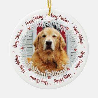 Merry Christmas | Happy Holidays Photo Ornament