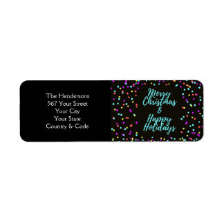 Merry Christmas & Happy Holidays - Return Address Label
