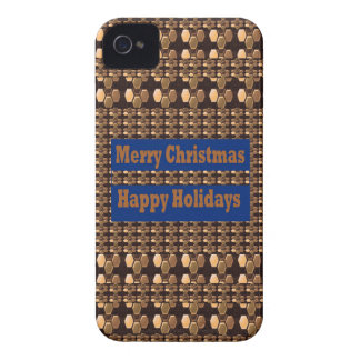 Merry Christmas  Happy Holidays Text Template GIFT iPhone 4 Covers