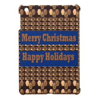 Merry Christmas  Happy Holidays Text Template GIFT Case For The iPad Mini