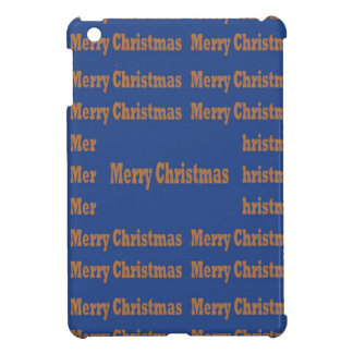 Merry Christmas  Happy Holidays Text Template GIFT iPad Mini Cases
