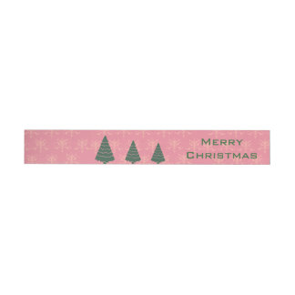 Merry Christmas Happy Holidays Wraparound Label Wraparound Address Label