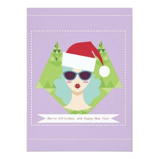 merry christmas happy new year 14 cm x 19 cm invitation card