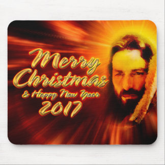 Merry Christmas Happy New Year 2017 Jesus Mousepad
