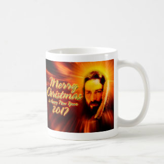 Merry Christmas Happy New Year 2017 Jesus Mug