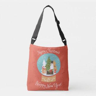Merry Christmas Happy New Year Crossbody Bag