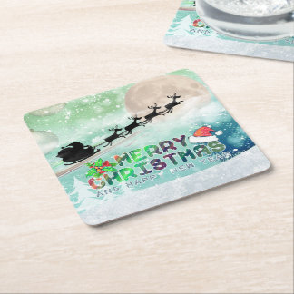 Merry Christmas & Happy New Year | Custom Coasters Square Paper Coaster