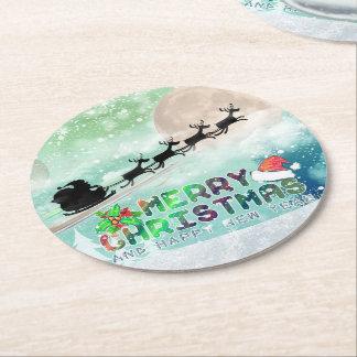 Merry Christmas & Happy New Year | Custom Coasters Round Paper Coaster