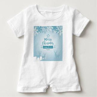 Merry Christmas & Happy New Year Elegant Unique Baby Bodysuit