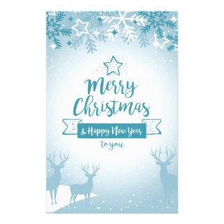 Merry Christmas & Happy New Year Elegant Unique Stationery