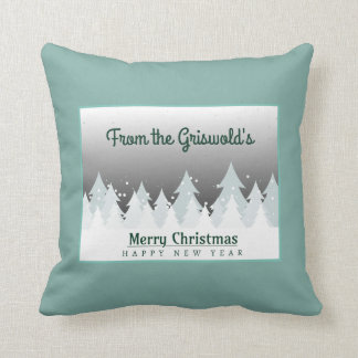 Merry Christmas Happy New Year Greeting Cushion