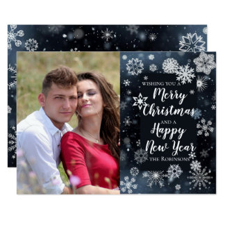 Merry Christmas, Happy New Year greeting design. Card