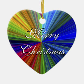 Merry Christmas - Happy New Year Heart Ornament