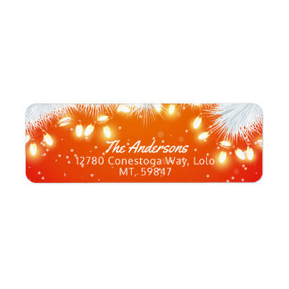 Merry Christmas & Happy New Year Holiday Greetings Return Address Label