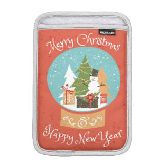 Merry Christmas Happy New Year iPad Mini Sleeve
