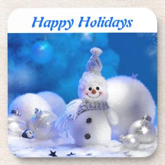 Merry Christmas Happy New Year - Joyful holidays Drink Coaster