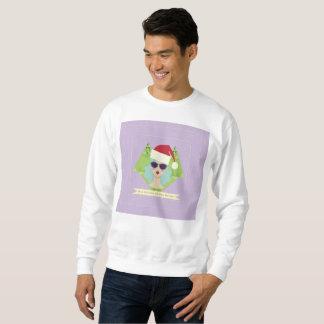 merry christmas happy new year mens sweatshirt