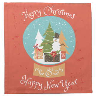 Merry Christmas Happy New Year Napkin