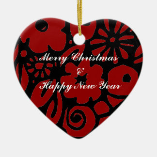 Merry Christmas Happy New Year Ornament