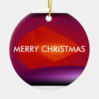 MERRY CHRISTMAS/ HAPPY NEW YEAR/ORNAMENT ROUND CERAMIC DECORATION