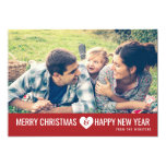 Merry Christmas & Happy New Year Photo Greeting 13 Cm X 18 Cm Invitation Card