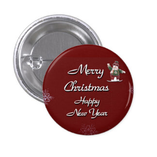 Merry Christmas Happy New Year Pins