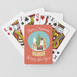 Merry Christmas Happy New Year Poker Deck