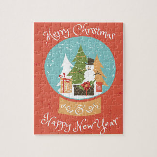 Merry Christmas Happy New Year Puzzle