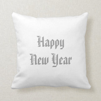 Merry Christmas/Happy New Year Reversible Pillow Throw Cushion