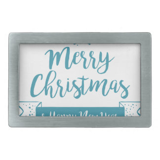 Merry Christmas & Happy New Year Simple Elegant Belt Buckles
