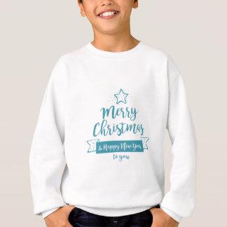 Merry Christmas & Happy New Year Simple Elegant Sweatshirt
