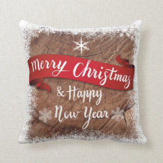 Merry Christmas & Happy New Year Square Pillow