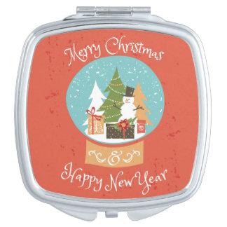 Merry Christmas Happy New Year Vanity Mirrors