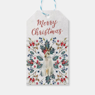Merry Christmas hare gift tags add your message