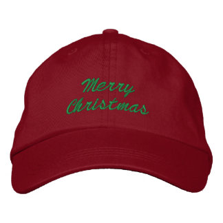 Merry Christmas Hat Embroidered Cap