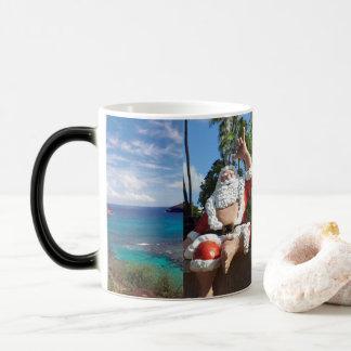 Merry Christmas Hawaii Santa Claus Magic Mug